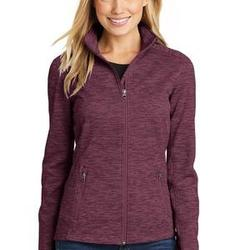 Ladies Digi-Stripe Fleece Jacket