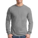 Mens Heavy Cotton Long Sleeve T Shirt